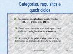 categorias requisitos e quadriciclos