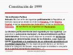 constituci n de 1999