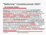 reforma constitucional 2007