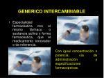 generico intercambiable