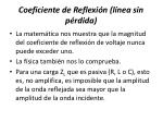coeficiente de reflexi n l nea sin p rdida1