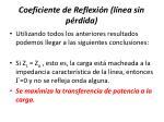 coeficiente de reflexi n l nea sin p rdida2
