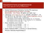 stacjonarne kursy przygotowawcze http www wppt pwr wroc pl 570399 dhtml