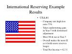 international reserving example results2
