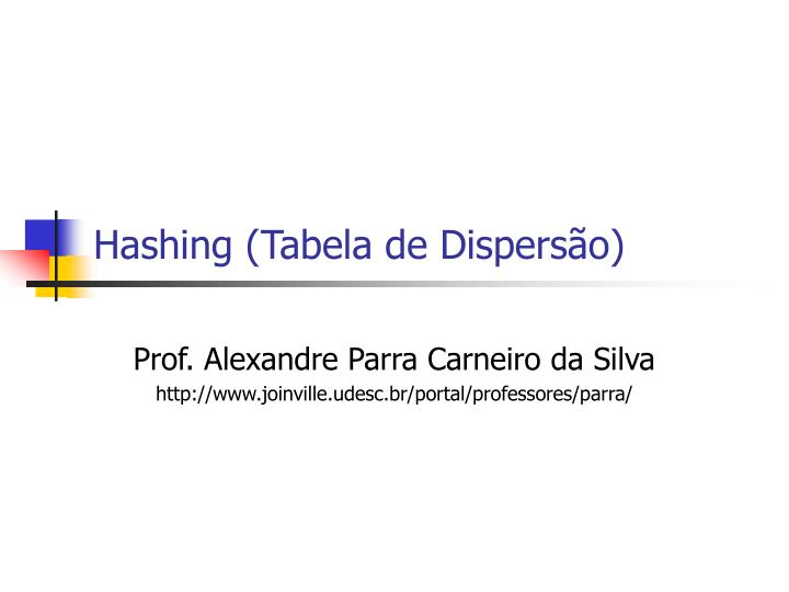 hashing tabela de dispers o n.