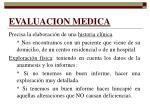 evaluacion medica