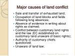 major causes of land conflict