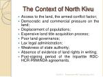 the context of north kivu