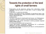 towards the protection of the land rights of small farmers