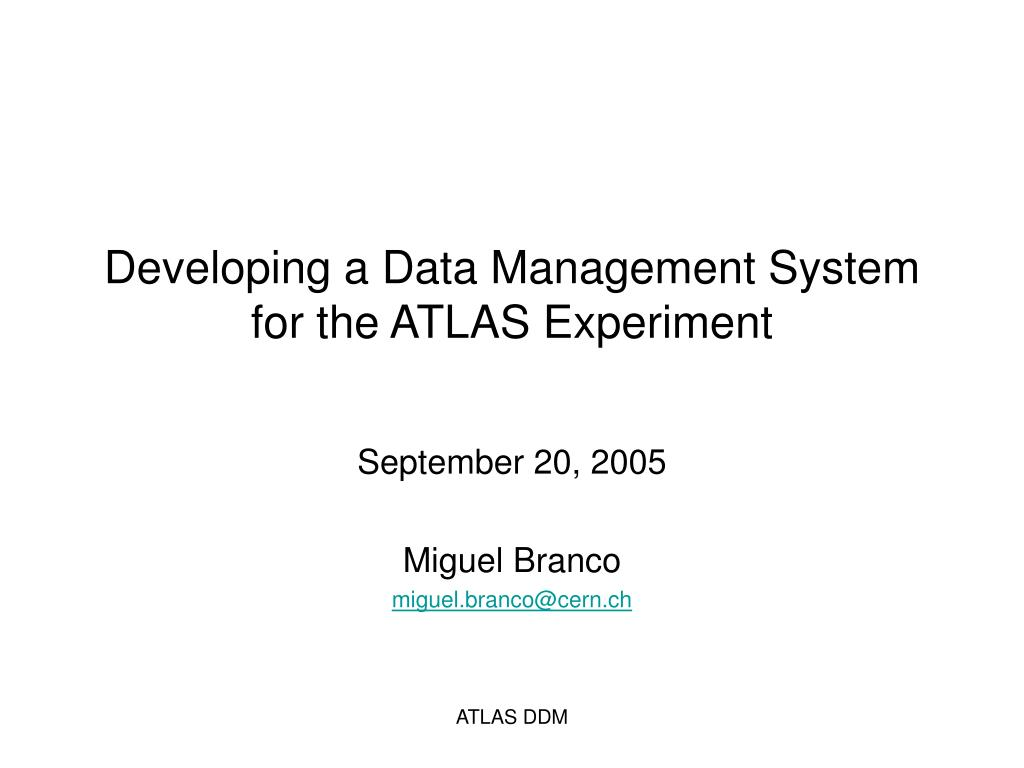 Developing a Data Management System for the ATLAS Experiment