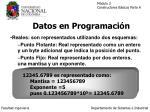 datos en programaci n