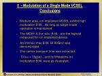 i modulation of a single mode vcsel conclusions