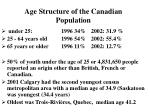 age structure of the canadian population