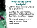 what is the word analysis