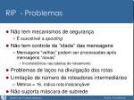 rip problemas