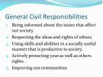 general civil responsibilities