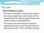 responsibilities that are governed by laws1