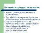 partnerskabsopl gget f lles fordele