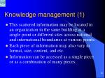 knowledge management 126