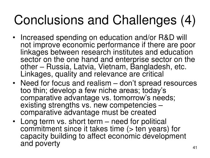Conclusions and Challenges (4)
