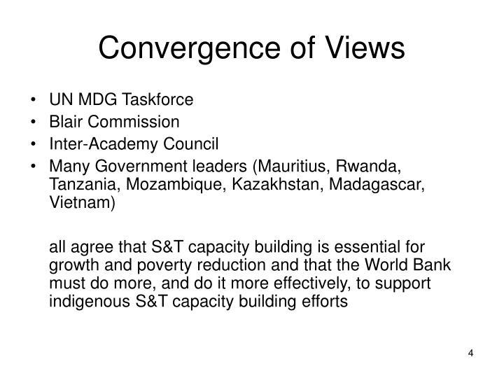 Convergence of Views