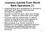 lessons learned from world bank operations 1