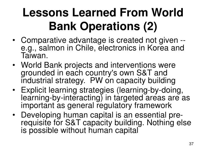 Lessons Learned From World Bank Operations (2)