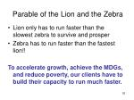 parable of the lion and the zebra