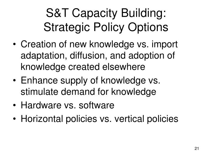 S&T Capacity Building: