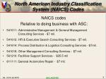 north american industry classification system naics codes