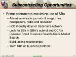 subcontracting opportunities