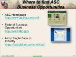 where to find asc business opportunities