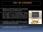 test no stresante