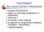 traitement des conjonctivites infectieuses