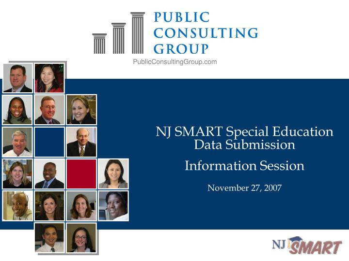 nj smart special education data submission information session november 27 2007 n.