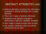 abstract attributes cont