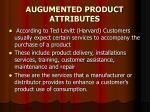 augumented product attributes