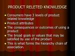 product releted knowledge