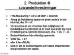 2 produktion sparande investeringar