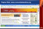 p gina web www comunidadandina org