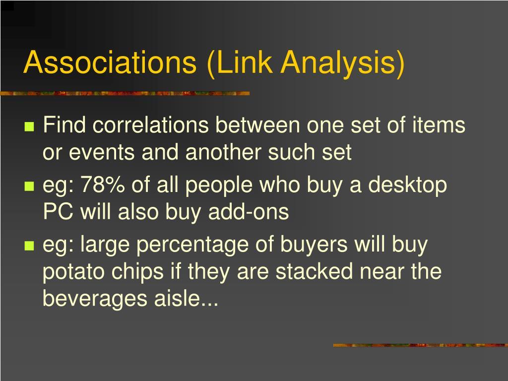 Associations (Link Analysis)