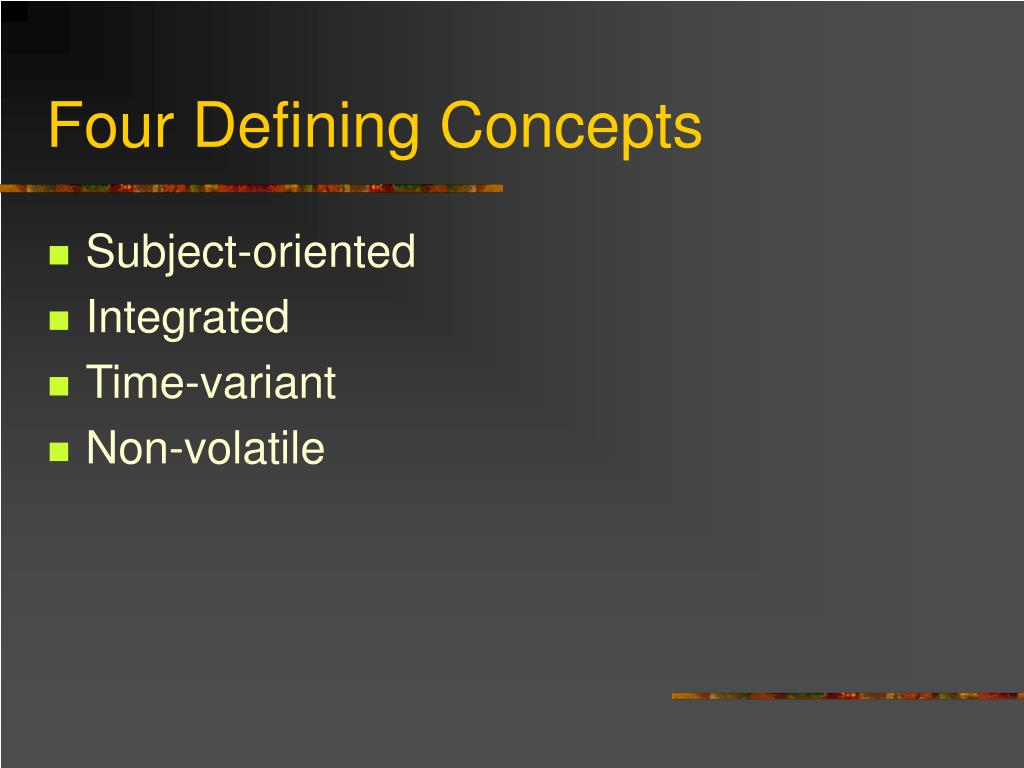 Four Defining Concepts