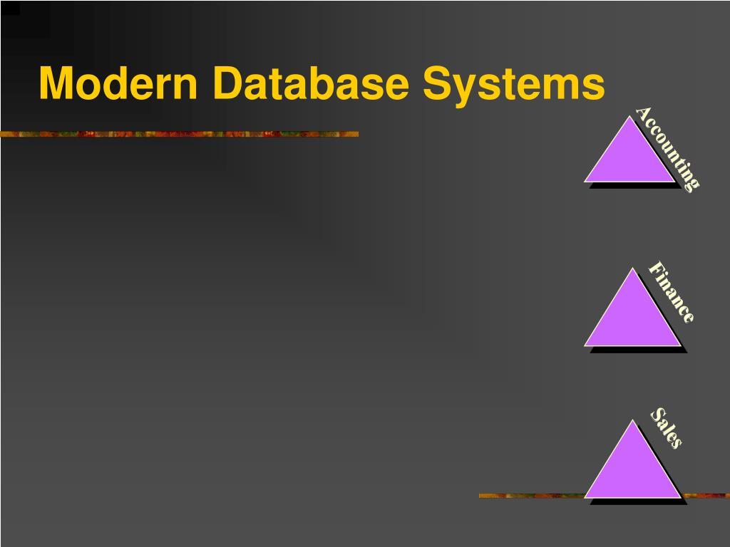 Modern Database Systems