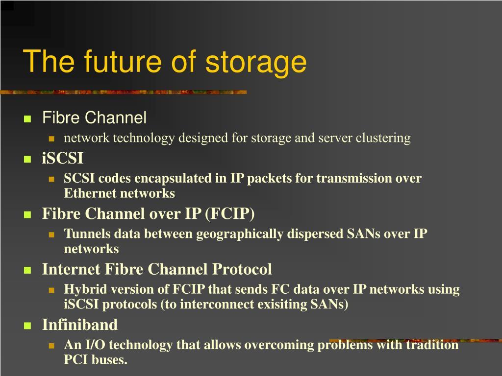 The future of storage