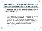 reglamento 7617 para implantar las disposiciones de la ley n mero 194
