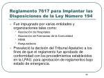 reglamento 7617 para implantar las disposiciones de la ley n mero 1941