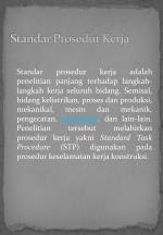 standar prosedur kerja