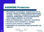 asereme productos