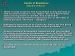 centre of excellence selection of sector