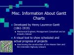 misc information about gantt charts